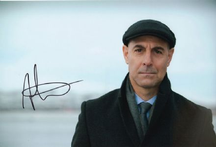 Stanley Tucci, signed 12x8 inch photo.